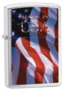 ZIPPO 24797 Made in Usa Flag